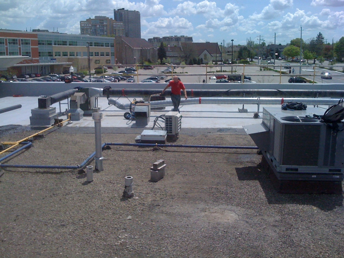 Single Ply Flat Roof Waterloo Ontario 7